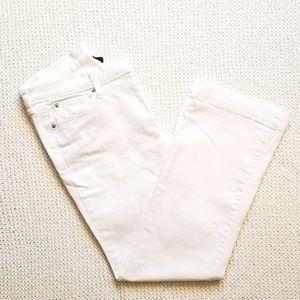 GAP Premium Long and Lean White Bootcut Jeans-10A